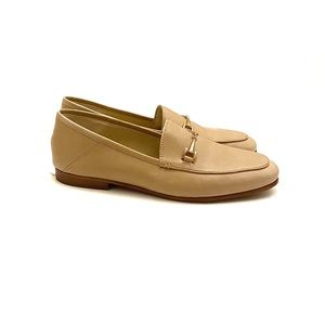 Sam Edelman Loraine Nude/Tan Leather Loafers Sz 8